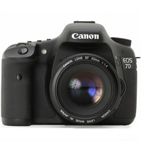 Canon EOS 7D digital camera hire from RENTaCAM