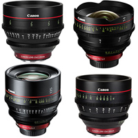Any 4 Canon CN-E cinema lens kit hire RENTaCAM Sydney