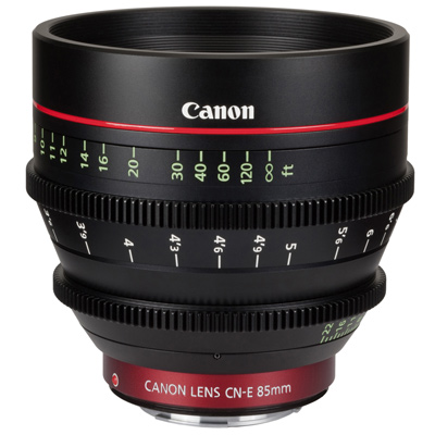 Canon CN-E 85mm T1.3 L F cinema lens hire from RENTaCAM Sydney
