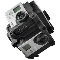Freedom 360 F360 mount for GoPro HERO4/3+ hire from RENTaCAM